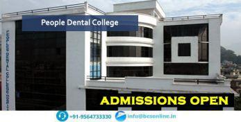 People Dental College Exams