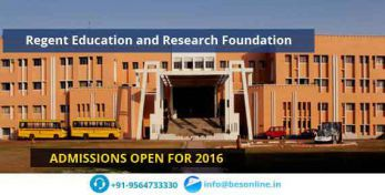 Regent Education and Research Foundation Admissions