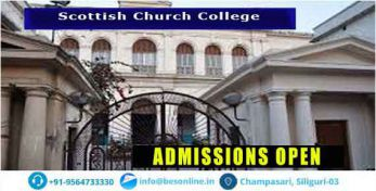 Scottish Church College Admissions