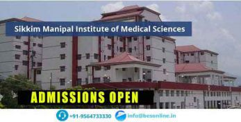 Sikkim Manipal Institute of Medical Sciences Courses