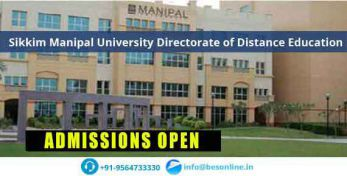 Sikkim Manipal University Directorate of Distance Education Facilities