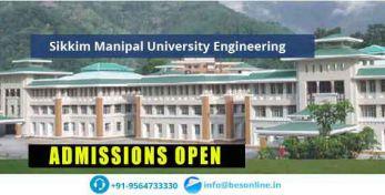 Sikkim Manipal University Engineering Admissions