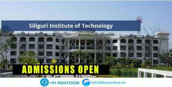 Siliguri Institute of Technology Courses