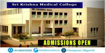 Sri Krishna Medical College Courses