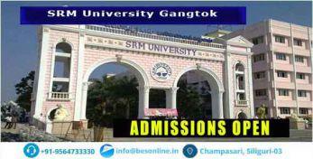 SRM University, Sikkim Exams