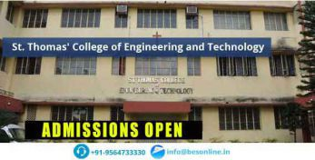 St. Thomas College of Engineering & Technology Admissions