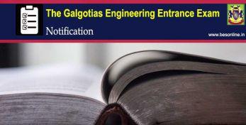 The Galgotias Engineering Entrance Exam 2020 Notification