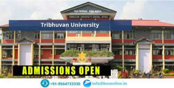 Tribhuvan University of Nepal Admissions